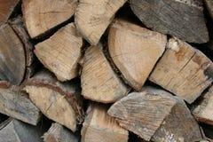 Vers le haut de la fin pile d'isolement de texture en bois coupée de fond Photographie stock libre de droits