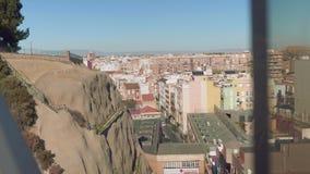 Vers le haut de la vue de Carthagène de château de Concepcion banque de vidéos