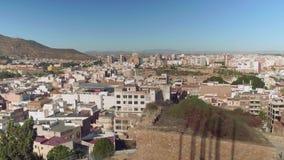 Vers le haut de la vue de Carthagène de château de Concepcion clips vidéos
