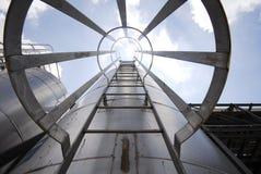Vers le haut de sur le réservoir Photo libre de droits