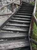 Vers le haut des escaliers Image libre de droits
