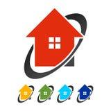 Vers le haut du réseau global Logo Template d'objet immobilier photographie stock libre de droits