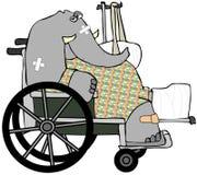 Vers le haut frappé éléphant Photos stock