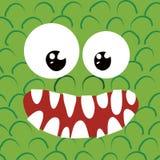 Vers le haut-heureux proche de monstre illustration stock