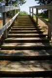 Vers le haut vers le bas de l'escalier Images stock