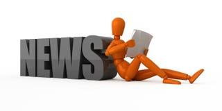 Vers nieuws. royalty-vrije illustratie
