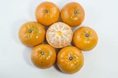 Vers oranje fruit met witte achtergrond Royalty-vrije Stock Fotografie