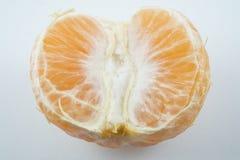 Vers oranje fruit met witte achtergrond Royalty-vrije Stock Foto