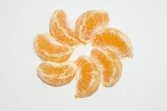 Vers oranje fruit met witte achtergrond Royalty-vrije Stock Afbeelding