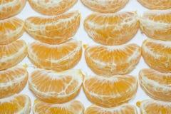 Vers oranje fruit met witte achtergrond Stock Foto