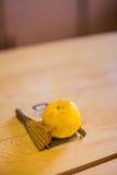 Vers oranje ingrediënt voor sushi royalty-vrije stock afbeelding