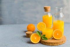 Vers Oranje Juice Summer Concept Healthy Drink Royalty-vrije Stock Afbeelding