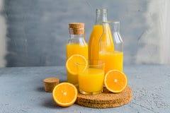 Vers Oranje Juice Summer Concept Healthy Drink Royalty-vrije Stock Afbeeldingen
