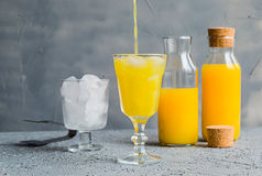 Vers Oranje Juice Summer Concept Healthy Drink Stock Fotografie