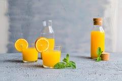 Vers Oranje Juice Summer Concept Healthy Drink Royalty-vrije Stock Fotografie