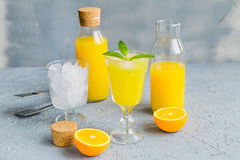 Vers Oranje Juice Summer Concept Healthy Drink Royalty-vrije Stock Foto