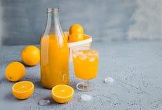 Vers Oranje Juice Summer Concept Healthy Drink Stock Foto