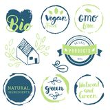 Vers, organisch, vrij gluten, 100% bio, premiekwaliteit, plaatselijk Stock Afbeelding