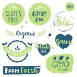 Vers, organisch, vrij gluten, 100% bio, premiekwaliteit, plaatselijk Royalty-vrije Stock Afbeelding
