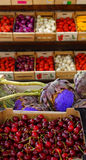 Vers productmarkt, de Provence stock afbeelding