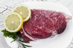 Vers rundvleeslapje vlees Royalty-vrije Stock Foto