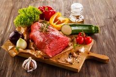 Vers ruw rundvlees stock afbeeldingen