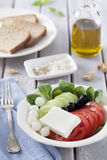 Vers salade en brood Royalty-vrije Stock Foto's