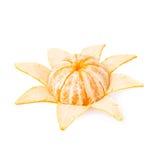 Vers sappig die mandarijnfruit over wordt geïsoleerd Royalty-vrije Stock Foto's