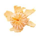 Vers sappig die mandarijnfruit over wordt geïsoleerd Stock Afbeelding