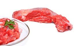 Vers, sappig en teder vlees. Royalty-vrije Stock Afbeelding
