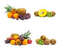 Vers sappig fruit op een witte achtergrond Stock Afbeelding