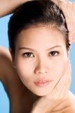 Vers schoon gezicht van Jonge vrouw royalty-vrije stock foto's