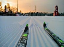 Vers skispoor stock fotografie