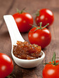 Vers tomatenchutney Stock Foto's