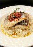 Vers Vissen Gastronomisch Diner royalty-vrije stock foto