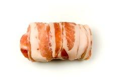 Vers Vlees dat in Bacon wordt verpakt Royalty-vrije Stock Foto's