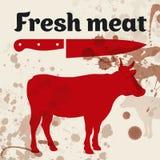 Vers vlees, rundvlees stock illustratie