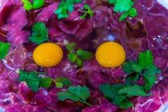 Vers vlees voor sukiyaki Royalty-vrije Stock Foto's