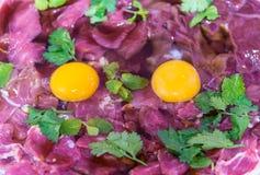 Vers vlees voor sukiyaki Royalty-vrije Stock Afbeeldingen