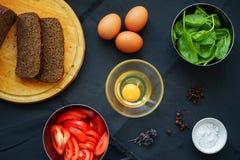 Vers voedsel voor ontbijt Stock Foto's