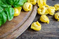 Vers voorbereide Italiaanse tortellini Royalty-vrije Stock Fotografie