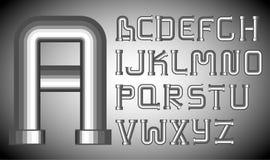 Versa l'alfabeto con un imbuto Fotografia Stock