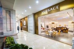Versace boutique display window. Ho Chi Minh, Vietnam Royalty Free Stock Photos