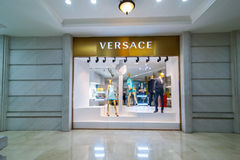 Versace boutique display window. Ho Chi Minh, Vietnam Stock Photo