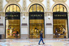 Versace boutique in Milan Royalty Free Stock Image