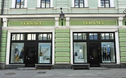 Versace flagship store. MOSCOW, RUSSIA - MAY 02: Versace flagship store, Moscow on May 2, 2018 Stock Photo