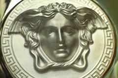 Versace graphite medusa logo Royalty Free Stock Photography
