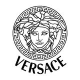 Versace logo icon. Gianni Versace S.r.l. usually referred to simply as Versace, is an Italian luxury fashion company and trade name founded by Gianni Versace in stock illustration
