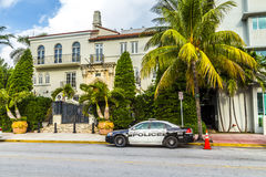 The Versace Mansion at Ocean Drive Royalty Free Stock Photo