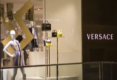 Versace shop in Sidney. Detail from Versace shop in Sidney, Australia. It is an Italian fashion company founded by Gianni Versace in 1978 Royalty Free Stock Photography